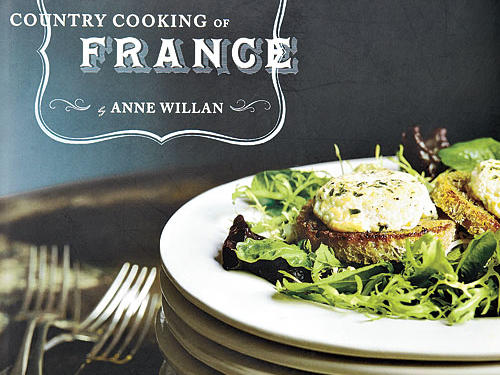 "The Country Cooking of France By Anne Willan, Chronicle Books, 2007. Hardcover. $50; 392 pagesEveryone to whom I've shown this substantial book responds with the same dreamy sigh: There are pages and pages of beautiful photographs of the people, animals, farms, and landscapes that make up rural France. Chapter openers praise soups, savory tarts, snails and frogs, charcuterie, and the like, explaining their significance to French rural cuisine. Sidebars dig deeper into the particulars of, for example, Alsace and Lille, or stinky cheeses and fresh chestnuts, or Monsieur Milbert, the gardener who has ""dug the earth seven days a week for a half century."" Recipe headnotes offer origins and history of dishes, as well as fine substitutes for ingredients that are hard to find outside of France."