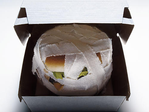 What explains the mummification of a burger?
