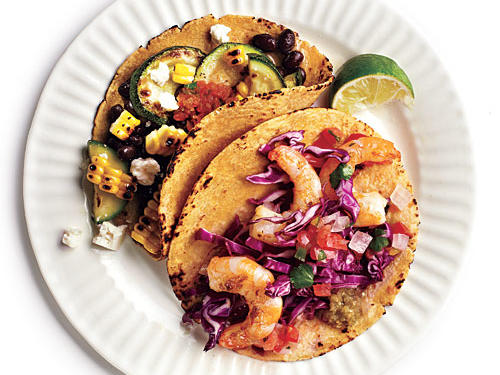 Being portion aware is easy when you use our 200-Calorie Tacos as your guide. Start with a warm 6-inch corn tortilla. Pick from our tasty topping combos to create a perfectly portioned 200-calorie taco. Healthy, delicious—you'll want two. For seasonal flavors try Black  Bean Fiesta or Mahi & Mango.