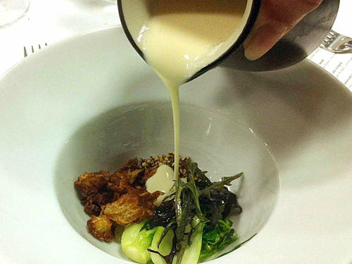 "Course 15: ""Cocotte of Brassicas"""