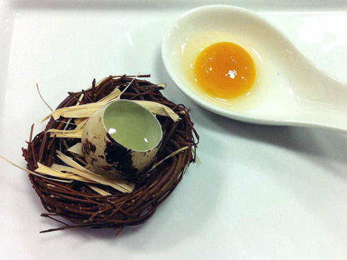 "Course 17: ""Raw Quail Egg"""