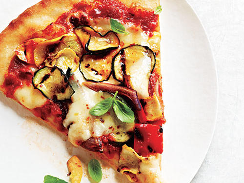 You'll love this summer pizza from the very first bite. Fresh grilled veggies and refrigerated fresh pizza dough make this recipe a winner.