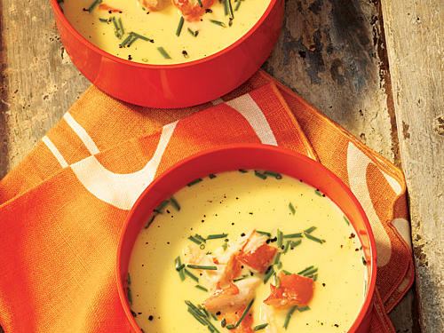 Chilled Fresh Corn Soup with King Crab