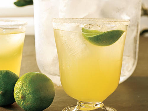 Jalapeño adds a subtle kick, and cilantro brings grassy, herbal notes to classic limeade. Adults might like to stir in a little tequila.