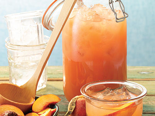 Peaches add sweet, mellow roundness to traditional lemonade. Stir in white rum or bourbon for grown-ups.