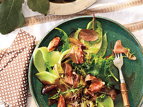 The best of the summer is tossed together in this fresh melon and fig salad. Ready in just 30 minutes, it's an ideal option for a busy weeknight dinner.
