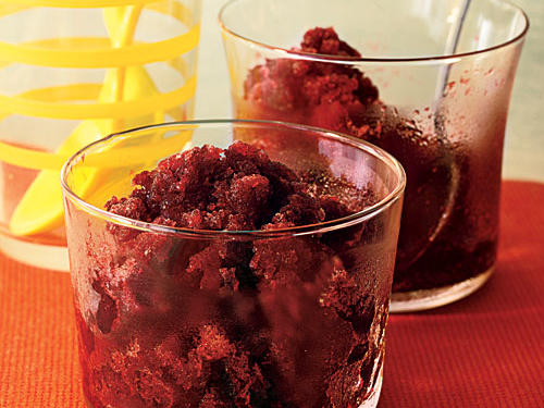 Blackberry Merlot Granita