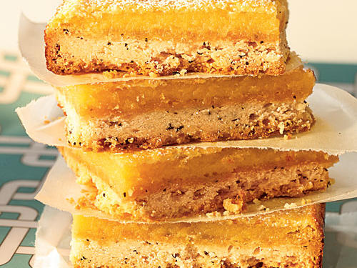 Classic lemon bars are given a regal upgrade with the addition of Earl Grey Tea, a black tea named after Prime Minister Charles Grey.