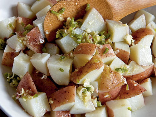 How to Make Potato Salad: Step Three: Add Dressing