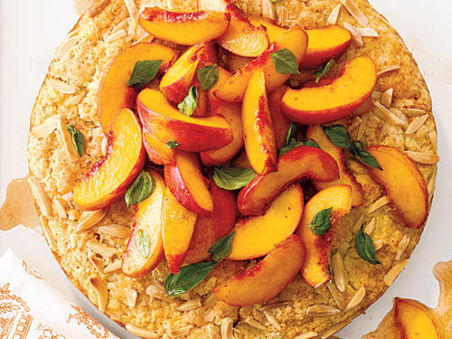 Strawberries might be the favored accompaniment to shortcake but, we can assure you, our Brandied Peach and Gingered Blueberry varieties are not to be overlooked.Our first recipe is rustic Peach and Basil Shortcake.This company-worthy shortcake is both beautiful and delicious. We love the unexpected flavor that basil brings to the table.