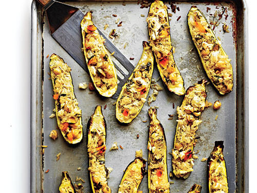 Persian Rice-Stuffed Zucchini with Pistachios and Dill