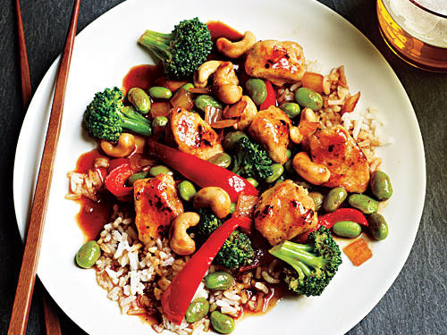 Honey Cashew Chicken with Rice Recipe