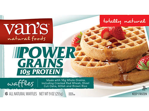 Pump up the protein in your breakfast with satisfying Van's Power Grains Waffles. Not only do they pack 5 grams of protein each, they're made with a genius combo of cracked red wheat, millet, steel cut oats, and brown rice. With 90 calories and only 2.5 grams of fat per waffle, they're guaranteed to do your waistline good. Skip the maple syrup and top yours with sunflower butter for an added protein kick.