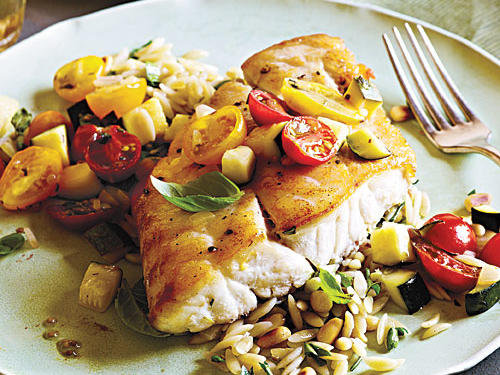 Snapper with Zucchini and Tomato Recipe