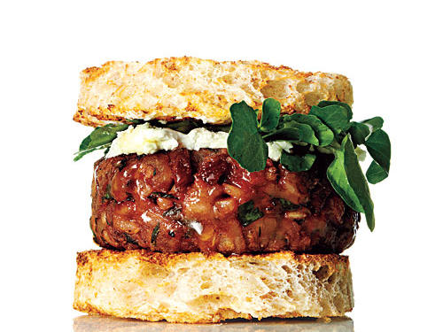 This bite-size veggie burger will leave you satisfied and craving another. Good news: a serving size is two sliders.