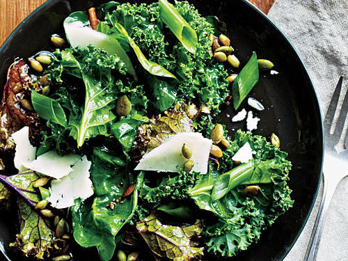 This fast kale salad can be transported into three different variations: Spicy Soy, Greek-Style, and Apple-Walnut.