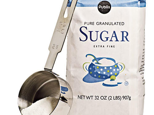 We reduce the sugar by two-thirds and cut another 95 calories per serving.