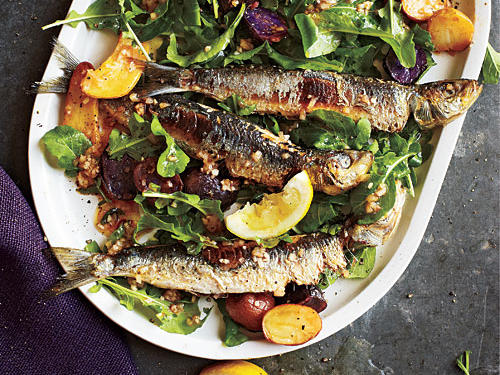 Portugal: Portuguese Sardine and Potato Salad with Arugula