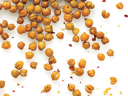 Crunch-O-Meter Rating: 8Low and slow is the key to drawing out all of the moisture without burning the chickpeas or seasoning. As they cook, the spices mingle and mellow for a rounded flavor.