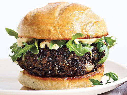 Make homemade veggie burgers in a snap with precooked lentils. Brown lentils can be substituted but tend to be more moisture-dense and may require additional breadcrumbs to help bind the burgers.