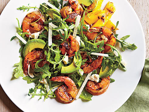 Combine citrusy grilled shrimp with arugula, avocado, and jicama to make a Mexican-inspired main dish salad.