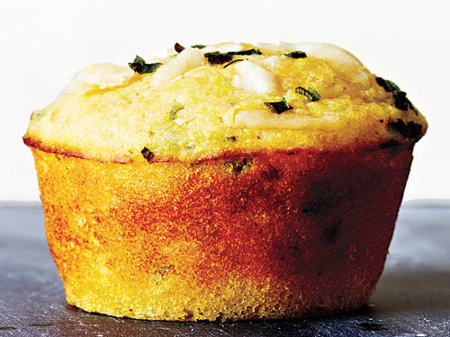 Cheese and chives are a can't-miss combo in corn bread recipes, but this one takes the cake. Simmer a pot of speckled butterpeas or cranberry beans in summer to serve alongside. Freeze any extra muffins for future harvest dinners. Splurge on quality Parmigiano-Reggiano.