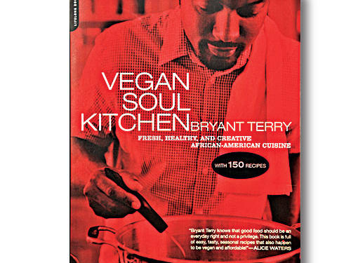 Vegan Soul Kitchen: Fresh, Healthy, and Creative African-American Cuisine By Bryant Terry, Da Capo Press; 2009. Paperback. $19; 223 pagesIt sounds like a preposterous idea, but Terry, a junk food junkie turned eco chef, pulls off vegan soul food deliciously. The proof is in the cooking. Quinoa-Quinoa Cornbread is light and delicious (and whole grain), better than many bacon fat-laden bombs I've tasted. As you cook, be sure to set the mood with Terry's musical recommendations; they're the gravy.GIVE THIS TO: Hipster and homegirl cooks who love soulful music and even more soulful food. —J.G.
