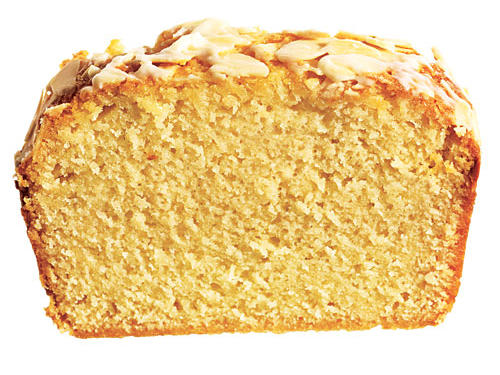 A package of almond paste— which you'll find on the baking aisle— makes this loaf incredibly moist and dense, almost like a pound cake.
