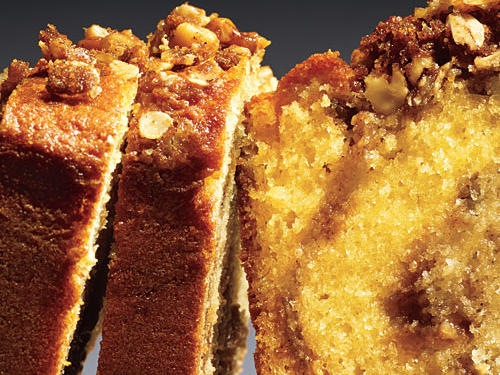 In this delicious quick bread recipe, streusel ribbons through the batter and adds crunch on top.