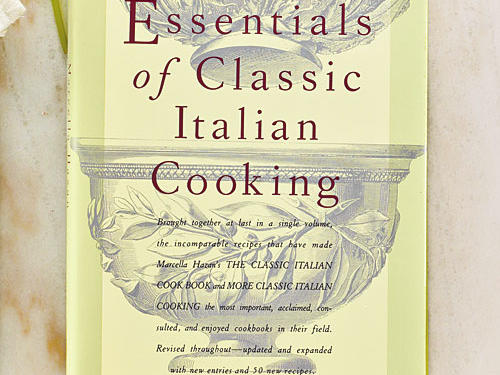 Essentials of Classic Italian Cooking By Marcella Hazan, Alfred A. Knopf, 1992. Hardcover. $35; 688 pagesThis tome from beloved cooking authority Marcella Hazan is nominally a compilation of two of her previous books, but it's actually much more than that. Hazan retested, updated, and in most cases, completely rewrote the recipes so that each is more focused and delicious. Some recipes were deleted, with new ones swapped in. The result stands, 20 years later, as a sort of Mastering the Art of Italian Cooking. If you had to choose only one Italian cookbook for your collection, this is it—the 500-recipe catalog of all foods Italian.GIVE THIS TO: The cook who stocks her shelves with culinary bibles. —Adam Hickman