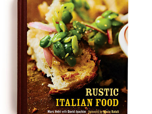 "Rustic Italian Food By Marc Vetri with David Joachim, Ten Speed Press, 2011. Hardcover. $35; 291 pagesTwo things come through with great force in this book: Philly-based chef Marc Vetri's exuberant, opinionated voice (""If you are thinking of using part-skim mozzarella, stop thinking"") and his love of cooking. (""People tell me it's a pain in the ass to make pasta. For me, there is nothing more relaxing."") Simple, hands-on, from-scratch cooking is the deal here. Most of the recipes hew to the notion of ""fewer ingredients, better quality,"" although some require a serious time investment.GIVE THIS TO: Ambitious cooks who love diving into projects. —Sidney Fry, MS, RD"