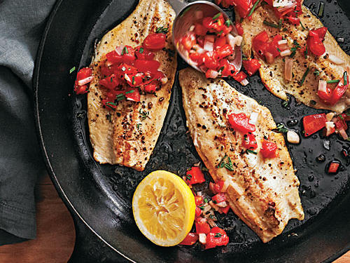 The Best Rainbow Trout with Smoked Tomato Salsa