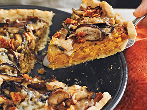 Butternut Squash and Mushroom Tart with Gruyère