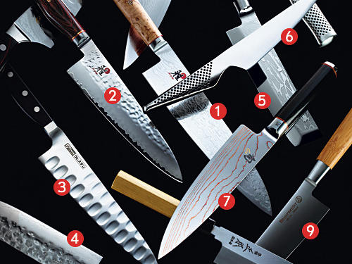 3. Supersharp, beautifully balanced knives
