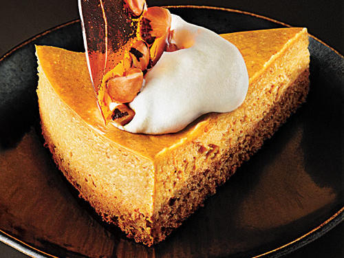 Pumpkin-Hazelnut Cheesecake