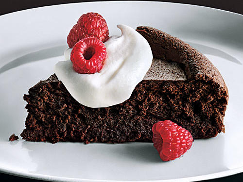 Similar to a flourless chocolate cake, this sinfully delicious mousse has a superthin cake-like outer layer and a dense, fudgy center—it's as rich and satisfying as any chocolate dessert you'll find.