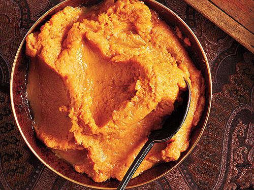 Browned Butter Bourbon Mashed Sweet Potatoes