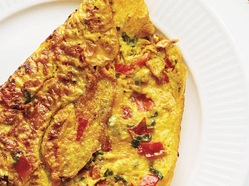 Although not typical in French cooking, turmeric marries well with eggs and perks up a basic omelet.