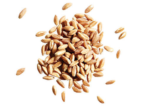 If you just can't look at another side of rice or couscous, consider farro. This ancient Egyptian cousin of wheat cooks up like risotto but with a chewier, nuttier bite. Plus, it's a nutrition powerhouse. With 170 calories per serving, a ¼ cup uncooked farro packs twice the protein and fiber of brown rice. For a speedy side that's ready in just 20 minutes, simmer with sautéed onions, tomatoes, and chicken stock. Try one of our delicious recipes, like this Onion, Feta, and Bell Pepper Farro Salad.
