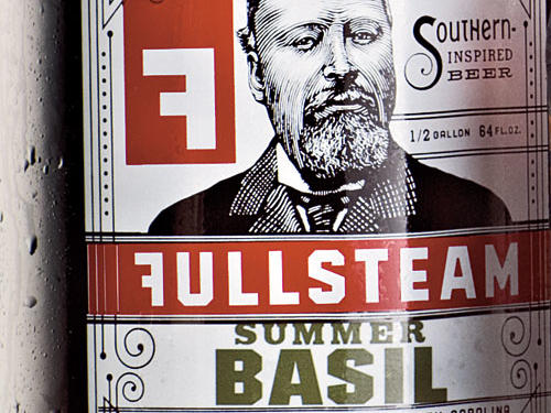 "A Bit of Restraint Breweries are often small, overworked, and cash-strapped. Labels with fewer colors cost less but can look terrific. Durham, North Carolina's Fullsteam Brewery works in a clean, hip, retro-with-a-twist lithograph style. Who's that guy? He's a ""semi-fictitious steampunk plantation owner,"" of course.Artist: Kurt Lightner"