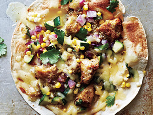 Chicken and Summer Vegetable Tostadas Recipe