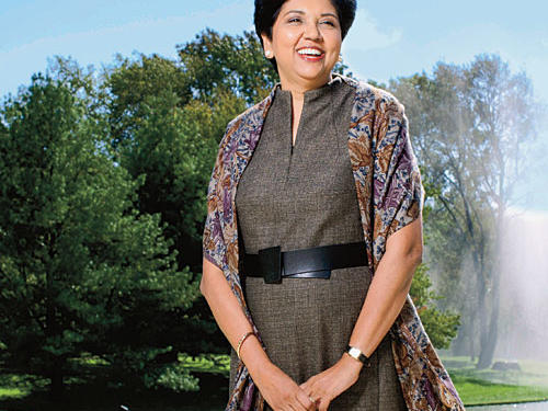 57, Purchase, New YorkPOSITION: Chairman and CEO of PepsiCoNOTABLE FOR: Sticking to PepsiCo's commitment to better nutrition, despite pressure from competitors and shareholders after the 2008 recession. Under Nooyi's guidance, most PepsiCo products will have less sodium, sat fat, and sugar within eight years. She's confident her soda-centered company can be both profitable and healthier. Indeed, she's bullish on good health: Nooyi anticipates the company's revenue from healthy snacks to roughly double—to $30 billion—by 2020.