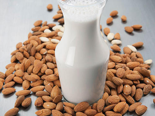 Try almond milk in your coffee. Not only will it add a sweet, nutty flavor without sugary syrups, you'll save a gram of saturated fat compared to low-fat milk.