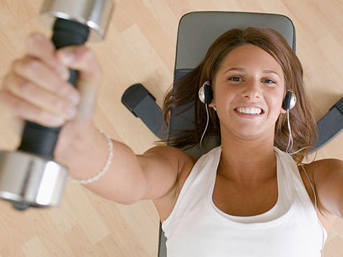 A recent study by the North American Association for the Study of Obesity found that women are more likely to stick to an exercise program if they listen to music.