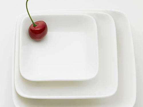 Studies show you'll eat about 20-22% less calories per meal simply switching from a 12-inch to 10-inch plate.