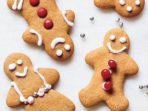 For Christmas cookie fun, it's hard to top these classic Gingerbread People. If you want to dress up the cookies, use red hot candies for buttons and currants for eyes; press those into the dough cut-outs before they're baked.View Recipe: Gingerbread People