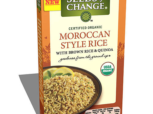 Who says whole grains can't taste great? This organic brown rice and quinoa combo delivers serious Moroccan flavor along with nutrition to boot. And more spice means less salt. With only 240 milligrams of sodium per cup, this grain duo is way lower in sodium than most boxed sides. It's also an instant energizer courtesy of ample complex carbs and B vitamins like niacin and thiamin that help convert food to energy. Each serving offers up 4 grams of protein and 2 grams of fiber for a reasonable 180 calories and only 1.5 grams of fat. For a veggie boost, toss in a handful of shredded carrots.