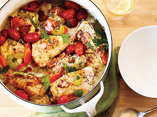 French, Greek, Moroccan: International takes on classic American fare.