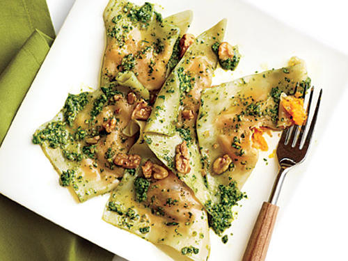This delicious dish uses supermarket wonton wrappers to create a shortcut weeknight ravioli treat.