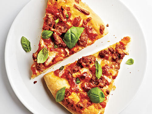 Preshredded cheese and cooked turkey sausage make this a 20-minute meal – perfect for a weeknight dinner. Fresh pizza dough can usually be found in the bakery section of your market, alongside the premade desserts.
